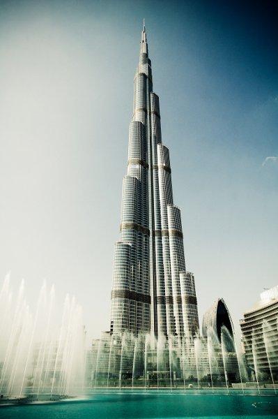 Burj Kalifa and Fountains, Dubai UAE