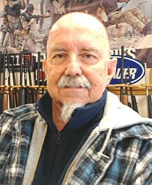 Former police officer Chuck Garlow owns the California Police Equipment store on 