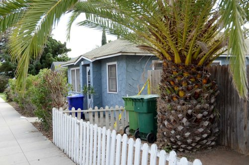 Oceanside Police responded to neighbors' calls of a terrible smell at the home.  Photo Weatherston.