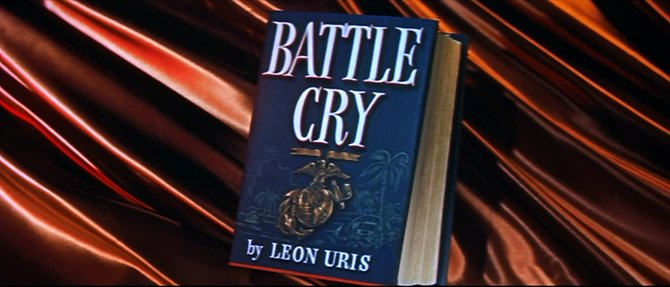 """From the trailer for Raoul Walsh's adaptation of Leon Uris' """"Battle Cry"""" (1954)."""