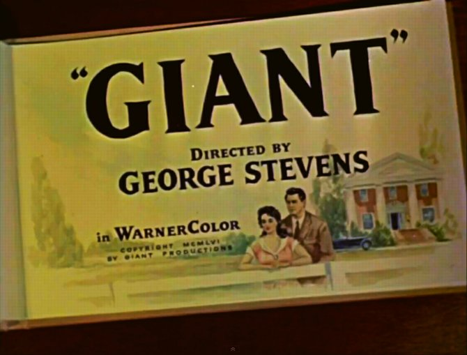 "From the trailer for George Steven's rendition of Edna Ferber's ""Giant"" (1956)."