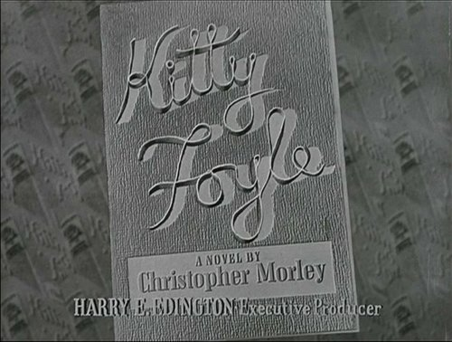 "From Sam Wood's mutation of Christopher Morley's ""Kitty Foyle"" (1940)."
