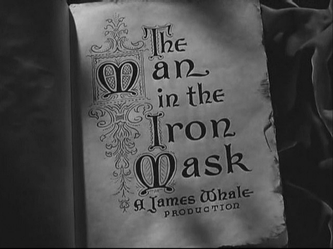 """From James Whale's lionization of Alexandre Dumas' """"The Man in the Iron Mask"""" (1939)."""
