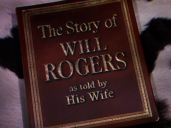 "Michael Curtiz fingering His Wife's ""The Story of Will Rogers"" (1952)."