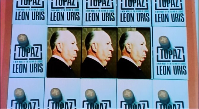 "From the trailer for Alfred Hitchcock's cultivation of Leon Uris' ""Topaz"" (1969)."
