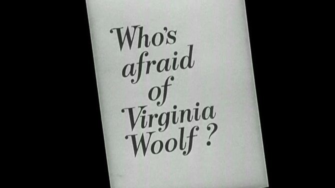 "From the trailer for Mike Nichols' polite adaptation of Edward Albee's ""Who's Afraid of Virginia Woolf?"" (1966)."