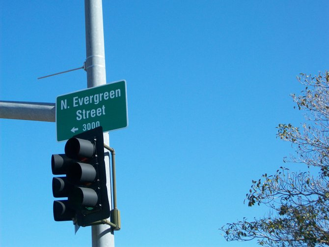 Street sign along Rosecrans St. in Point Loma.