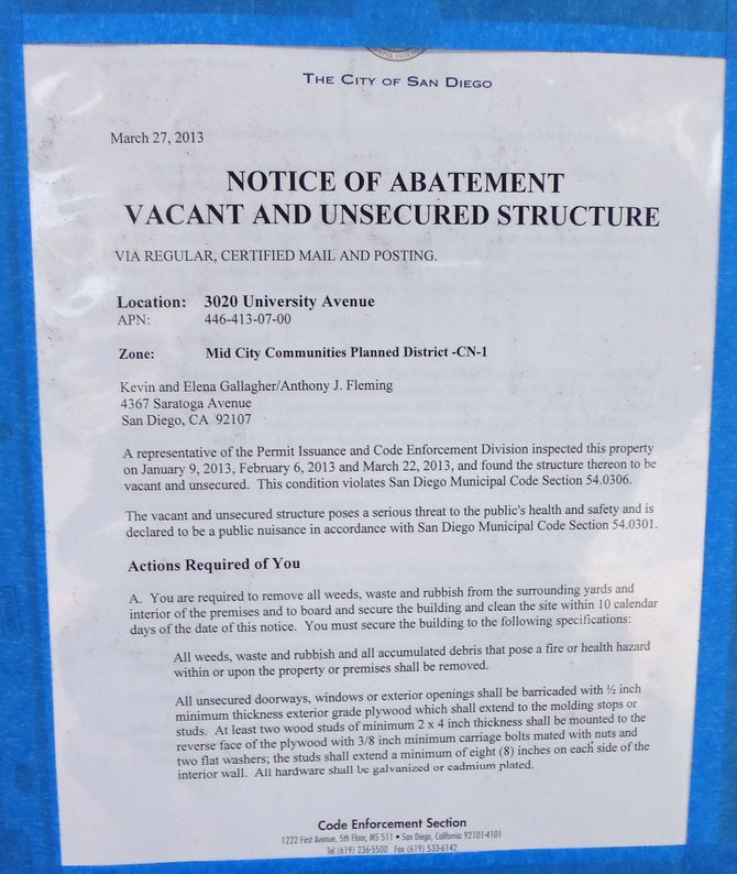 Abatement notice