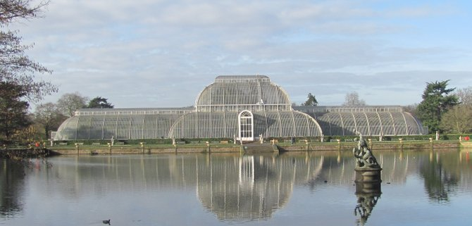 The Palm House at the Kew Gardens