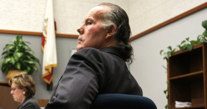 Registered nurse Michael Garritson, 62, pleads not guilty.  Photo Weatherston.