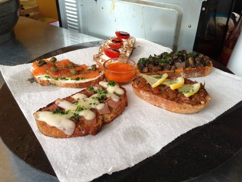 Tapas available at Etxeverri