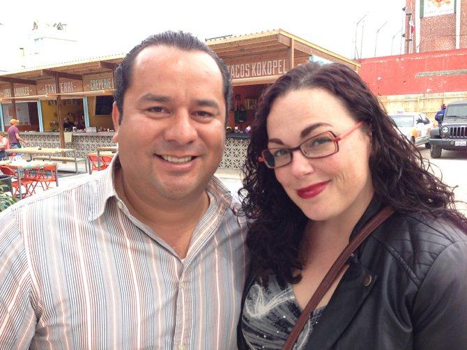 Ricardo Nevárez and Barbarella at Food Garden