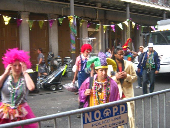Mardi Gras revelers, New Orleans