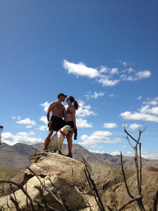 While doing a camping trip in the desert of Anza-Borrego just outside Borrego Springs, California. We took a hike up lower canyon trail this was at the highest point of the trail.