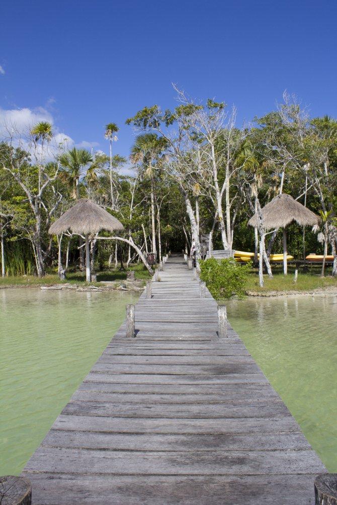 Lagoon outside Tulum, Mexico
