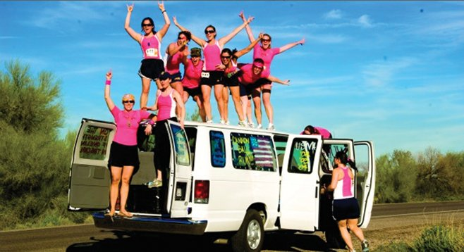 Ragnar Relay team: what happens in the van, stays in the van.