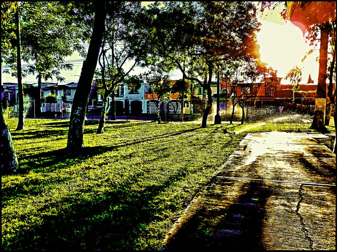 Neighborhood Photos TIJUANA,BAJA CALIFORNIA Early morning in Tijuana Park/De manana en parque en Tijuana