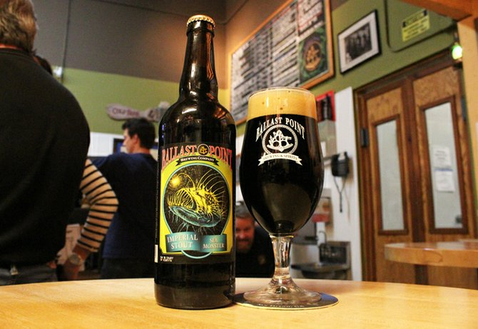 Look closely and you can see Ballast Point specialty brewer Colby Chandler photo-bombing the Sea Monster