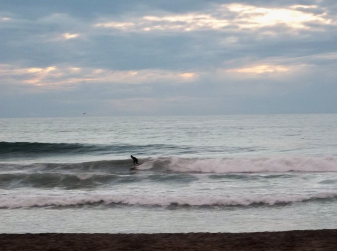 Surfer at Dusk, Swami's Beach, Encinitas