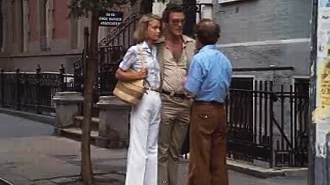 "Shelly Hack, Albert Ottenheimer, and Woody Allen in ""Annie Hall."" (Screencap credit: H. Keller.)"