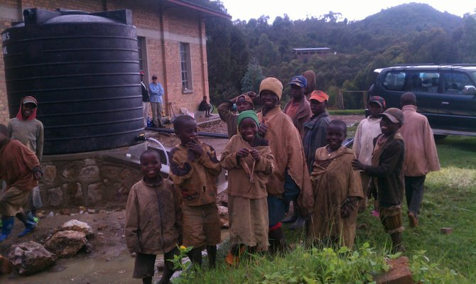 These kids will no longer have to spend their day fetching water – freeing them to attend class.
