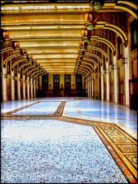Inside Palacio Nacional in Mexico City