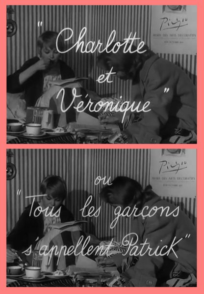 "Jean-Luc Godard's ""Charlotte et Véronique, or All the Boys are Called Patrick"" (1959)."
