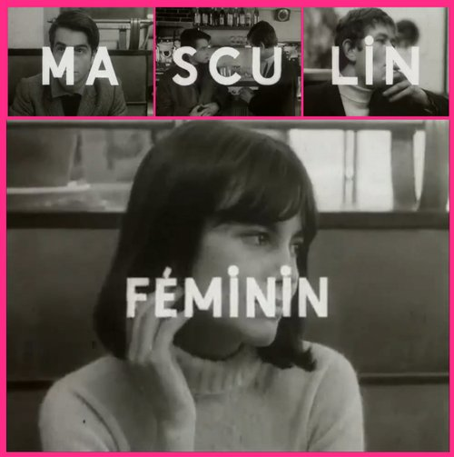"From the trailer for Jean-Luc Godard's ""Masculine Feminine"" (1966)."