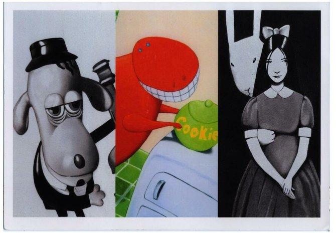 Three separate works by Richard Reyes