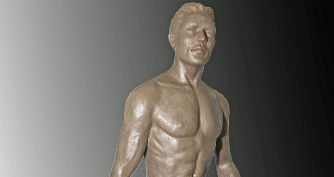 Photo of lifeguard statue provided by sculptor Richard Arnold