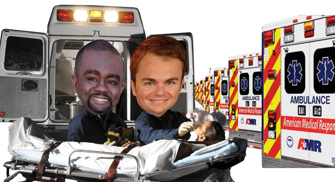 Dwayne Crenshaw and Carl DeMaio are among the candidates who have received donations from ambulance outfit AMR San Diego.