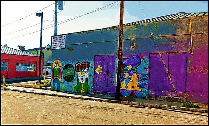 Neighborhood Photos TIJUANA,BAJA CALIFORNIA Street Mural in near Altabrisa section of Tijuana/Mural Callejero cerca de fracc. Altabrisa en Tijuan