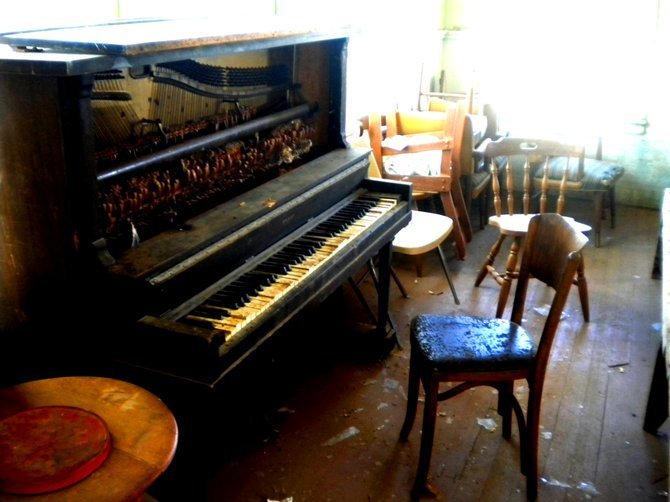 (Supposedly) haunted piano.