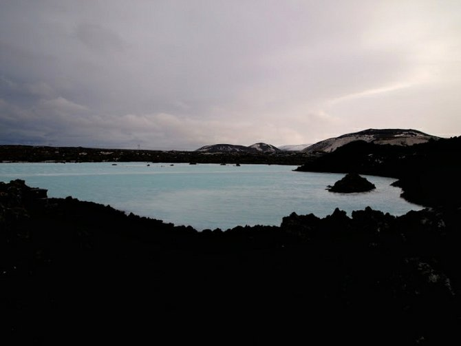 Blue Lagoon from a distance