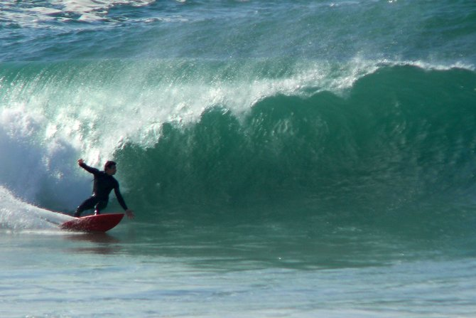 Surfing in Mission Beach
