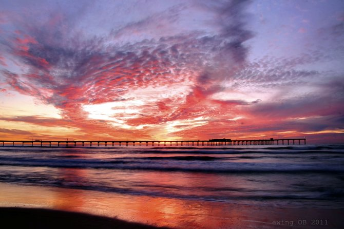 Spectacular sunset in Ocean Beach
