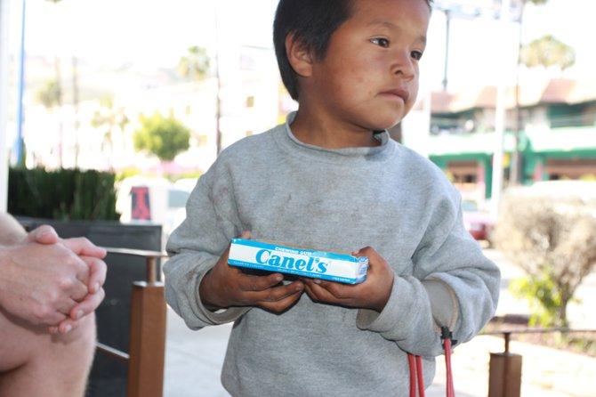Chicklet kid in Ensenada, Mexico