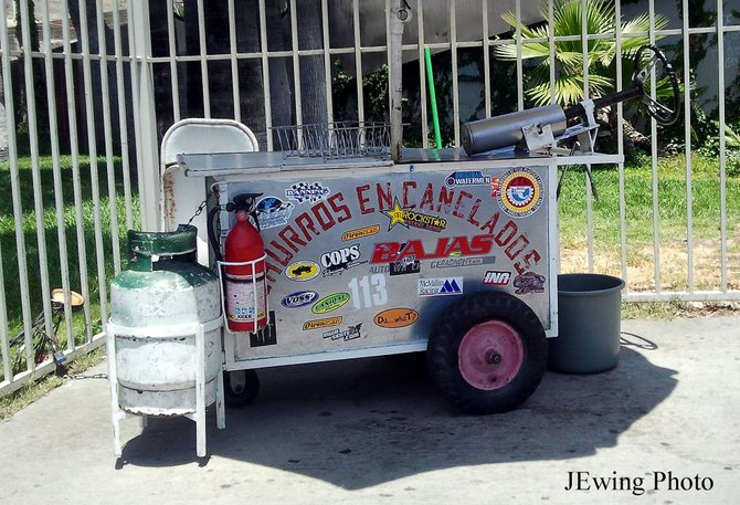 Churro Cart in Tijuana