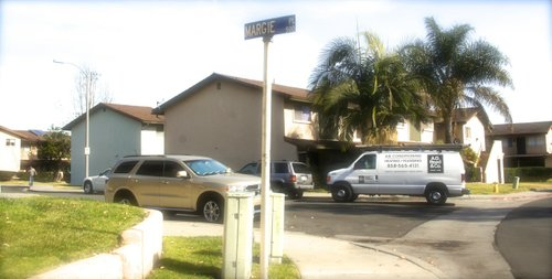 Street corner in San Marcos where the alleged incidents took place. Photo Weatherston.