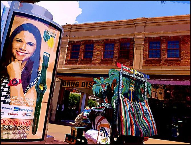 Neighborhood Photos TIJUANA,BAJA CALIFORNIA Billboard and Building on Revolution and Second avenue in Tijuana/Anuncio y Edificio en Avenida REvolucion y Calle Segunda en Tijuana