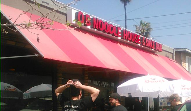 food network shoots show at ob noodle house  san diego reader, the noodle house ocean beach