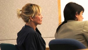 Sherri Lynn at prior court appearance.  Photo Weatherston.
