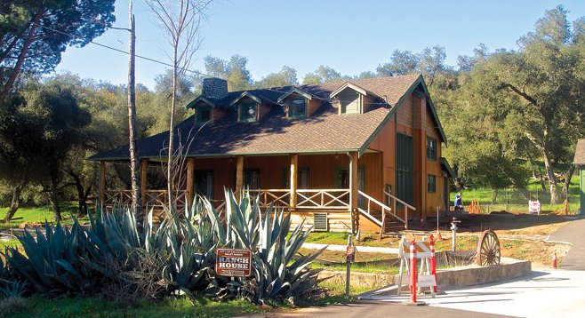 The reconstructed Daley Ranch House is reminiscent of California's ranching past.  The ranch features 25 miles of hiking trails.