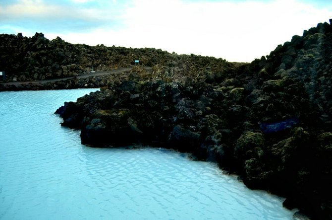 Milky water of the Blue Lagoon.
