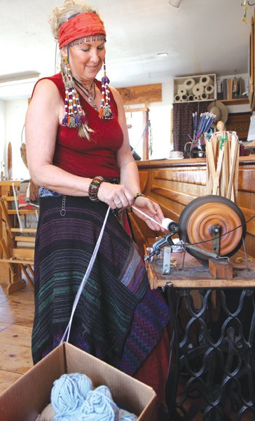 """I make a decent living with my custom weaving,"" says Beryl Warnes, owner of Julian Weaving Works."