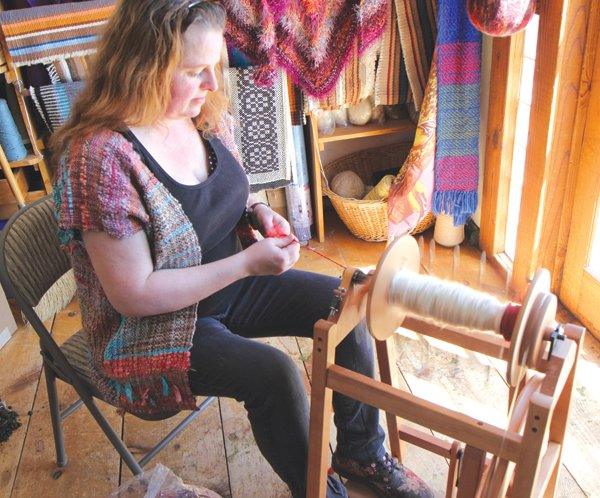 Michaelin Marie spins her yarns only at night, after she completes her day job at the Julian Post Office.