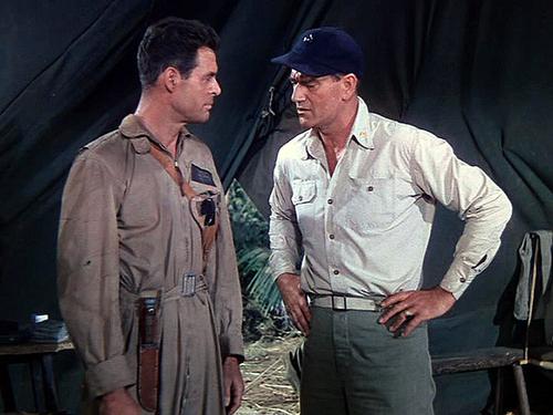 Robert Ryan and John Wayne.