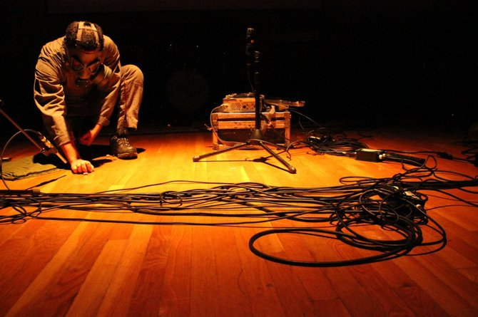 "Saba Alizadeh performing ""Bulletine"" at CalArts"