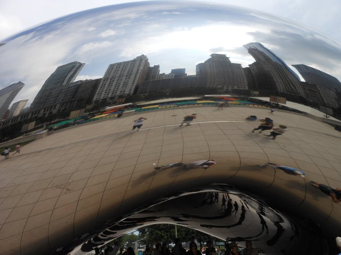Cloud Gate or bean in Chicago