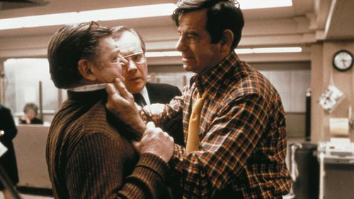 Dick O'Neill (L) versus Walter Matthau (R) and his madras monstrosity.